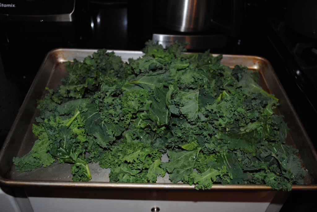 Kale on sheet
