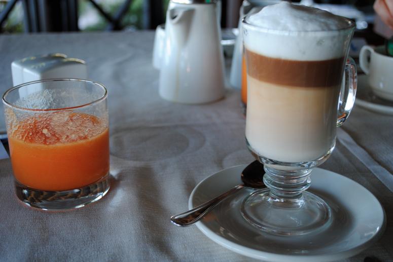 Coffee and juice