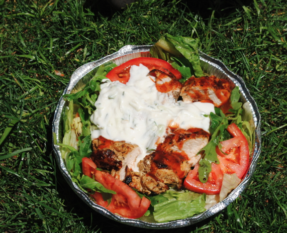 salad on grass
