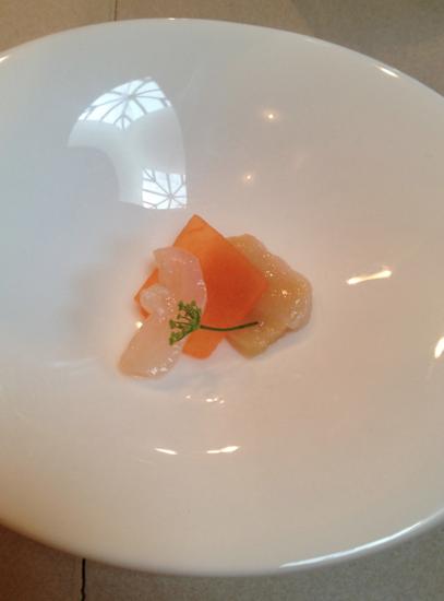 Geoduck clam w tuscan melon