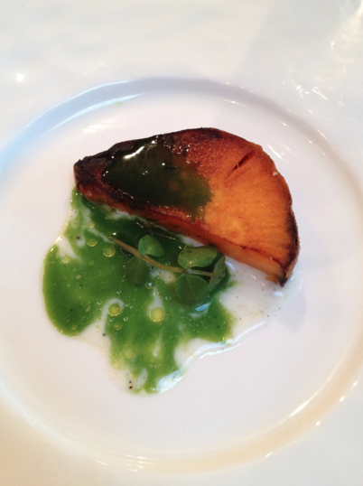 Sweet potato w buttermilk and watercress