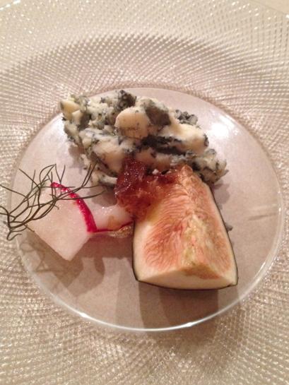Blue cheese honeycomb fig radish bronzed fennel