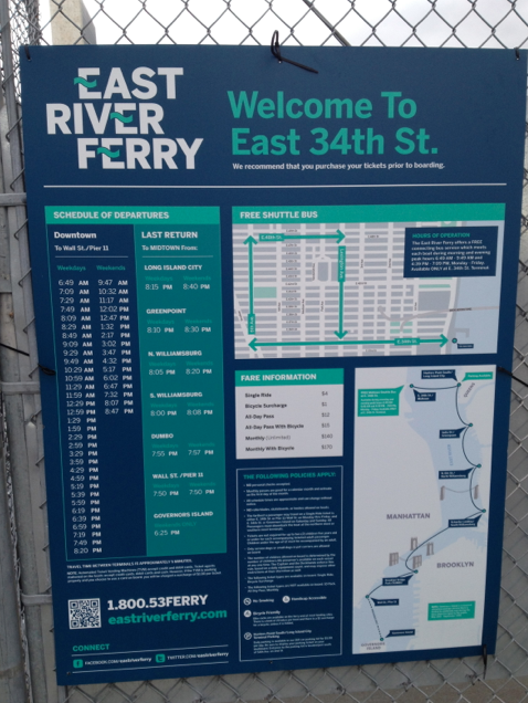 Ferry route.