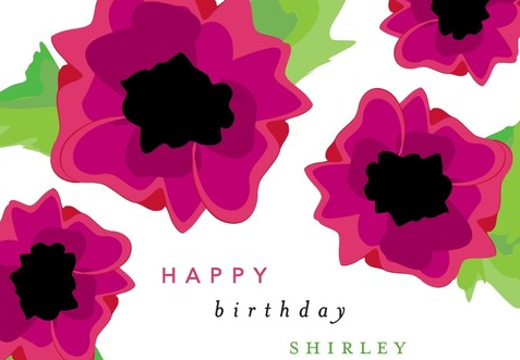 bday sample card