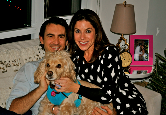 Family lady with husband, Ryan and dog, Bigsby.