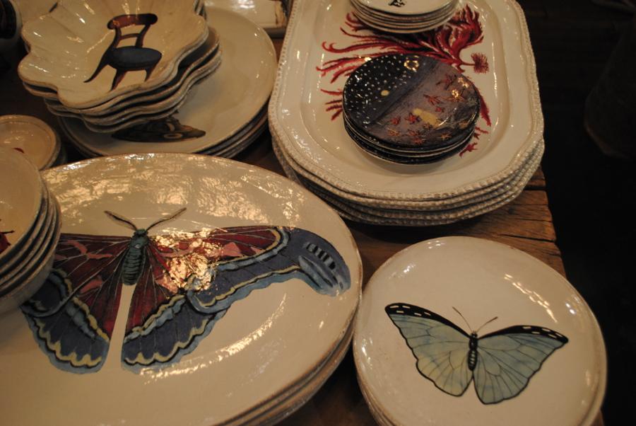 Rustic plates