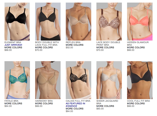 So many bras to choose from!