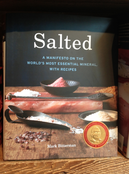 The owner, Mark Bitterman, also wrote the book Salted which includes the history and recipes of salt.