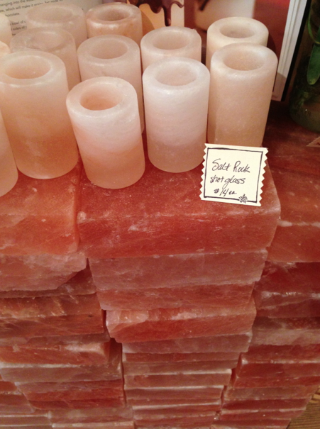 Himalayan salt blocks are a fun and unique way of cooking and serving food. They look like a big brick (which they are essentially), but you use a slab of the blog to cook with on the stove or barbeque. Adventuresome!