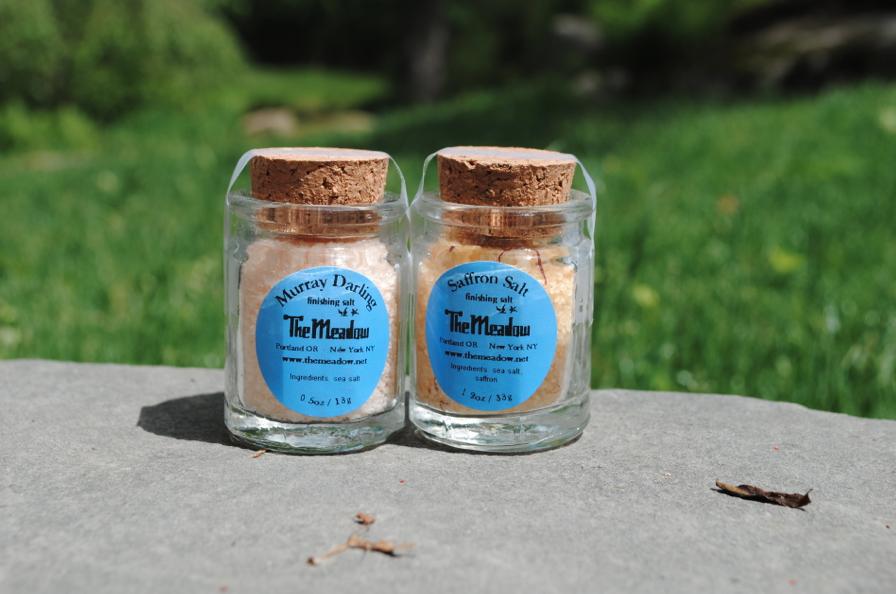 Specialty salt: safron and a Philipino salt,