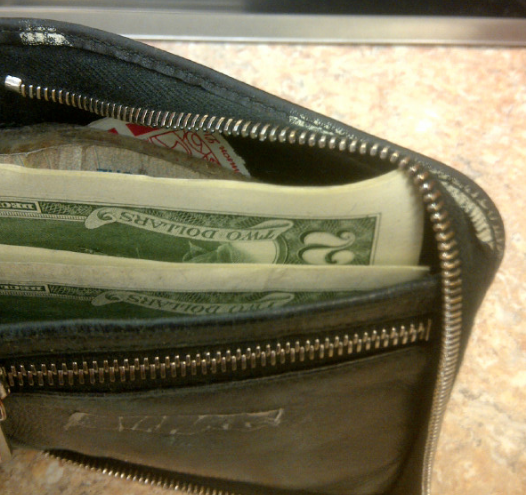 pocket full of dough.