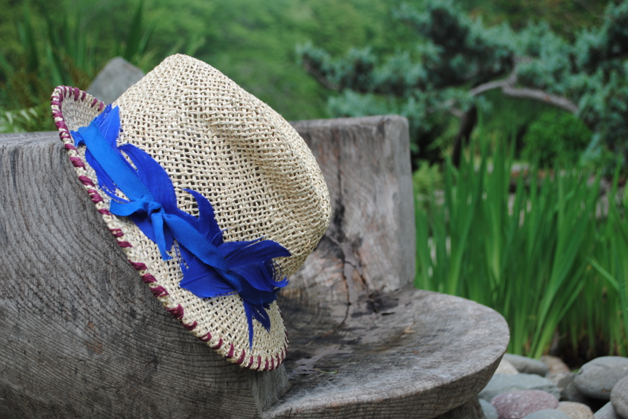 My current obsession: straw hat.