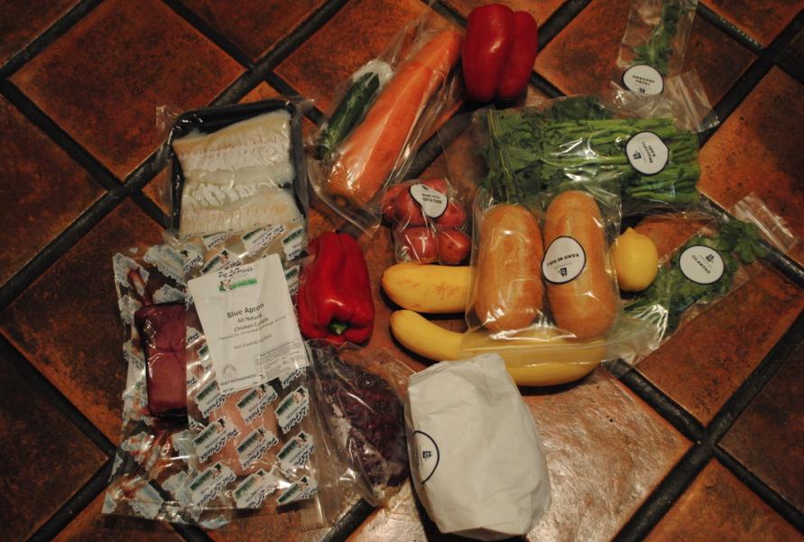 The weeks worth of ingredients.