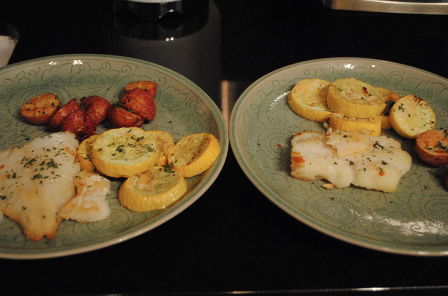 Food for two (plus leftovers for Baby Zoe's lunch -- not shown)