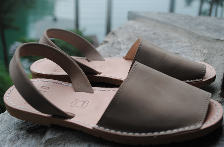 These spanish flat sandals are created by the NY line, Plomo.
