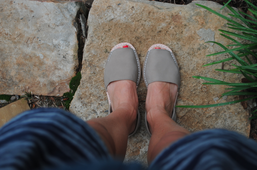I love to wear these shoes with shorts OR dresses. My 2013 version of flip flops.