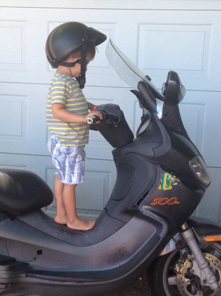 Cruzzie's dream. Nope, he didn't actually ride it.