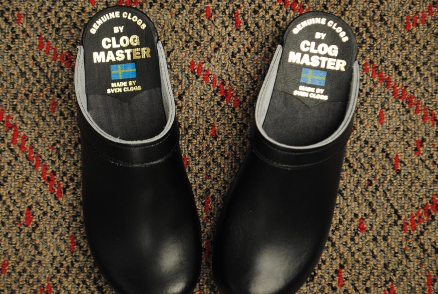Inside the shoe.