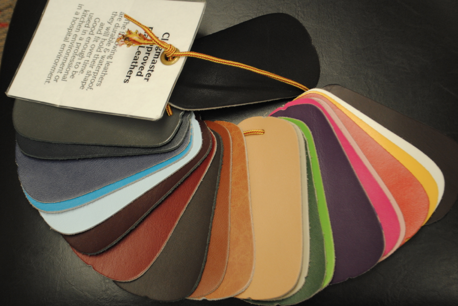 Leather color options.