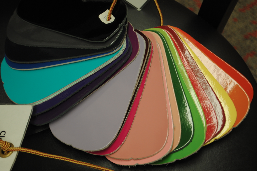 Patent leather color options.