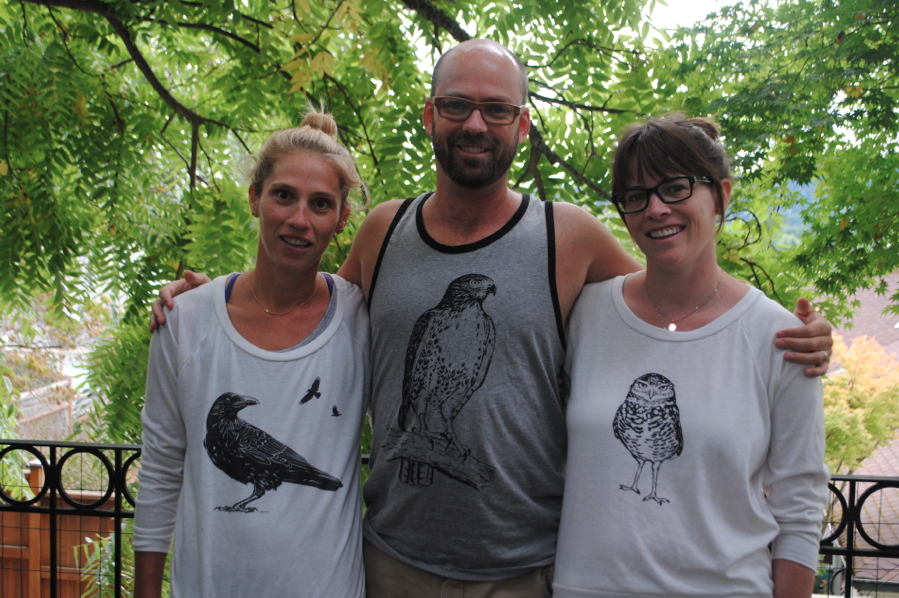 3 amigos all in bird shirts!