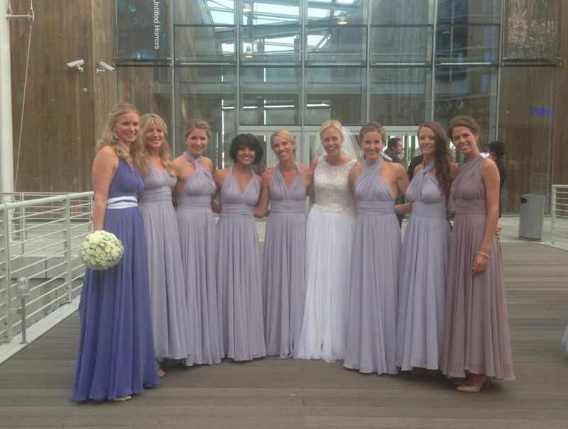 Camilla and the bridesmaids.
