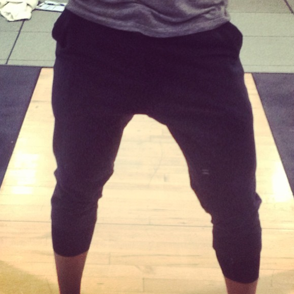 Shaun is the one who made me obsessed with these drop-crotch-workout pants from Lulu! People constantly stop him in the street asking him about these pants -- they are too cool -- comfortable, easy, stylish, and work in the gym AND out. COME BACK TO THE STORES LULU!