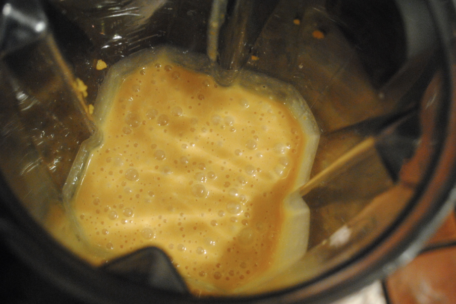 Blends better in the vitamix. No clumps.