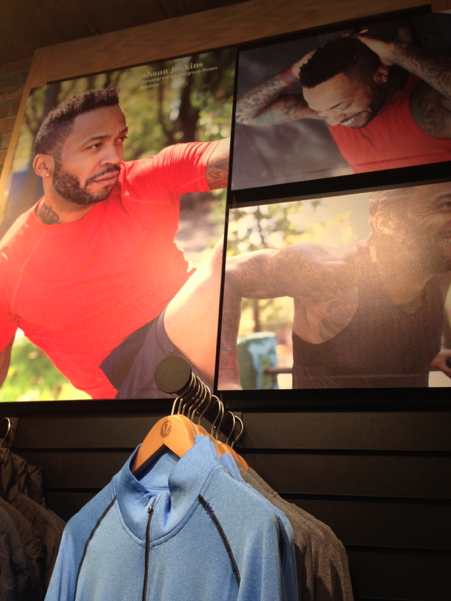 Shaun's picture at the Lululemon store on the Upper East Side. HIGH GIVE GURU SHAUN!