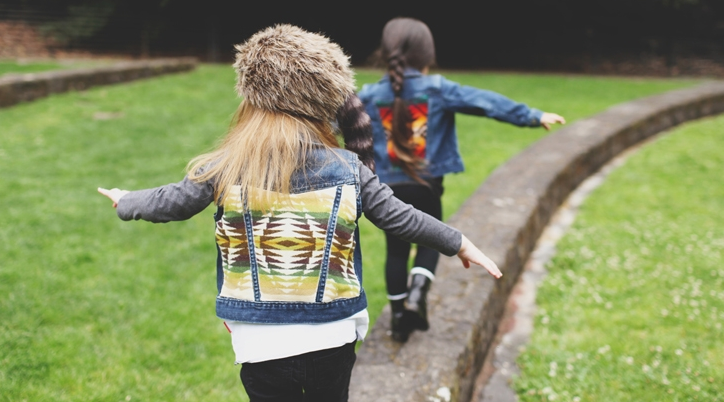 The backs of two jackets.