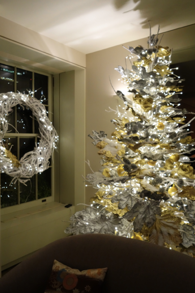 White and gold, sparkly, vibrant, energetic, and oh-so-different tree!