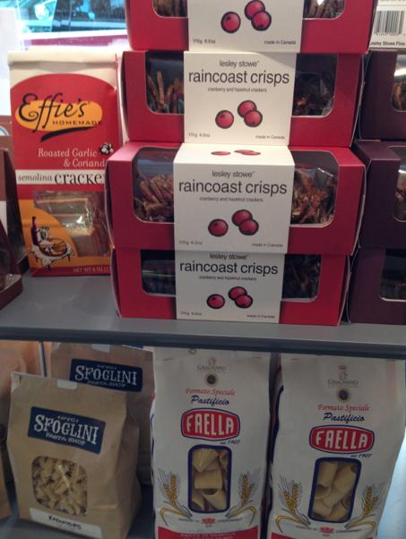 An assortment of crackers.