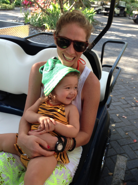 Rocking the look with baby Toosh. Best accessory is baby in Tiger. OBVI.