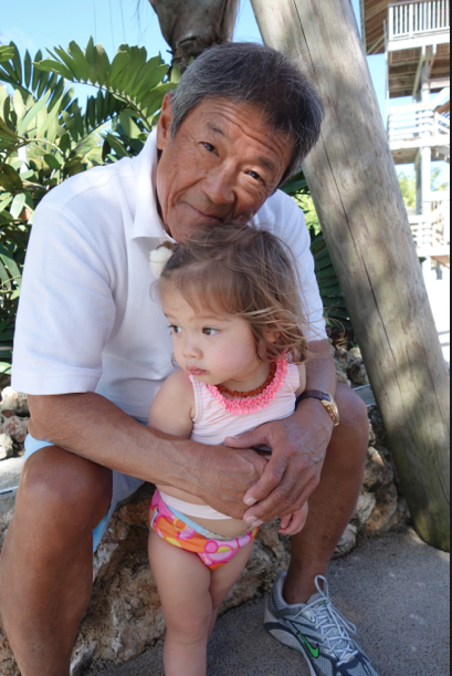 Gramps and his granddaughter