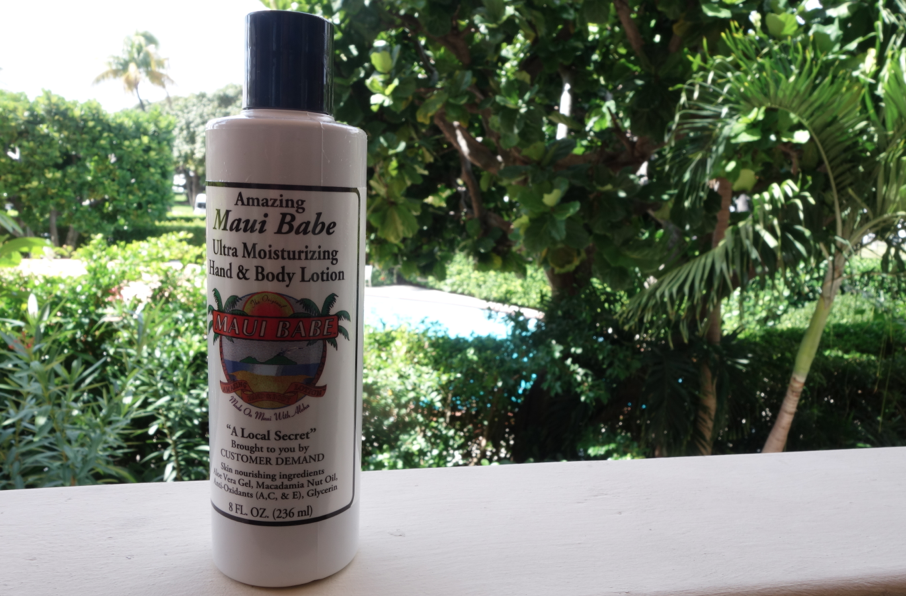 tropical lotion in tropical places.