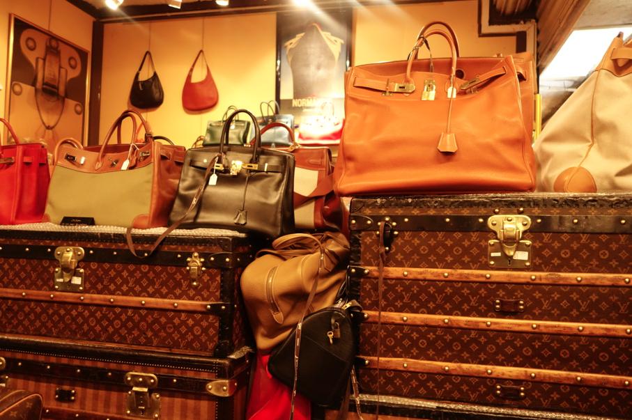 Vintage Hermes bags.