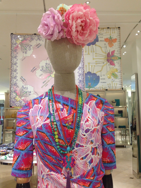 Necklaces and fashion at Bon Marche.