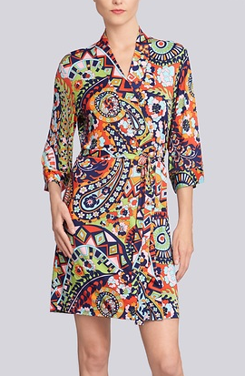 And why not add a fun robe to the whole look for some EXTRA oomph and MORE color?