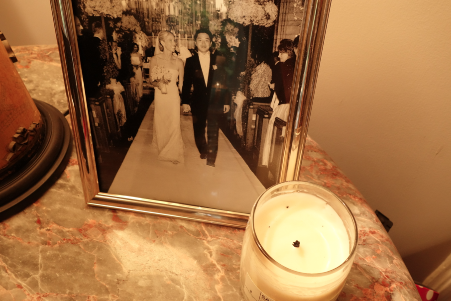 candle + photo