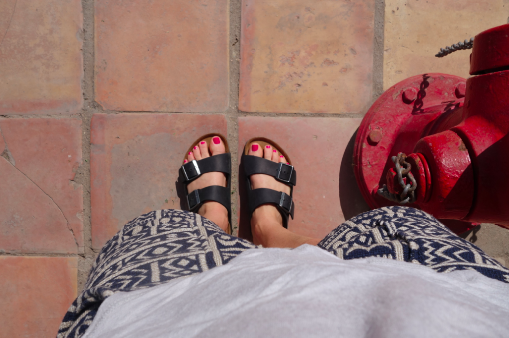 When in Rome....wear birkenstocks. OBVI.