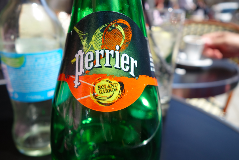 Perrier and Tennis (well, Tennis was over, but still I was able to drink Perrier and feel like I was at the French Open).
