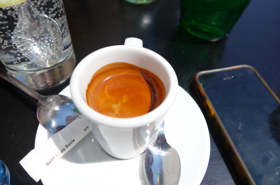 A lot of caffeine was consumed on the trip. Travel + sun + cafe + Parisians + no kids = WIRED or DRUNK.