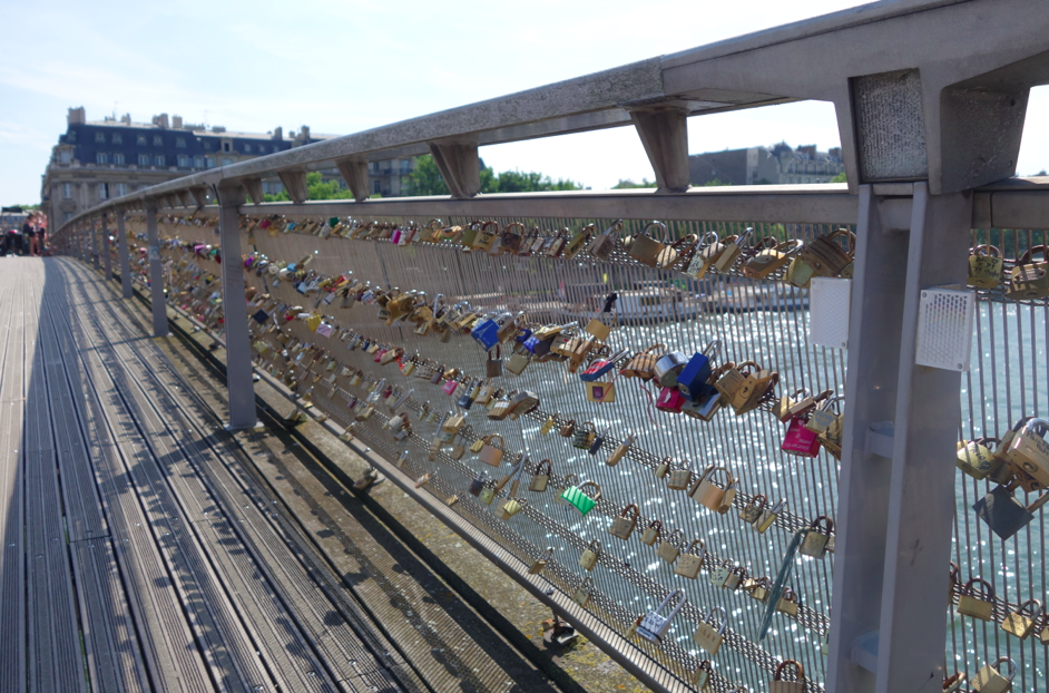 Bridge of locks to capture our love.