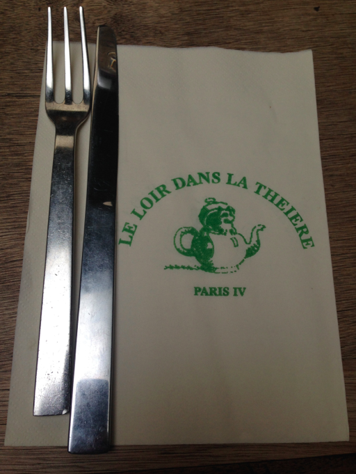 Le Loire Dans La Theiere is located in the Marais at the end of a touristy block, and the food was exceptional.