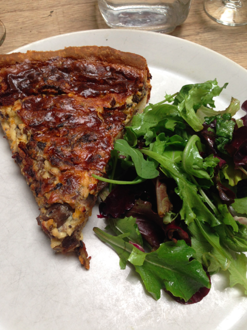 Quiche with mushrooms. I couldn't stop sneaking bites in from Ken's lunch.