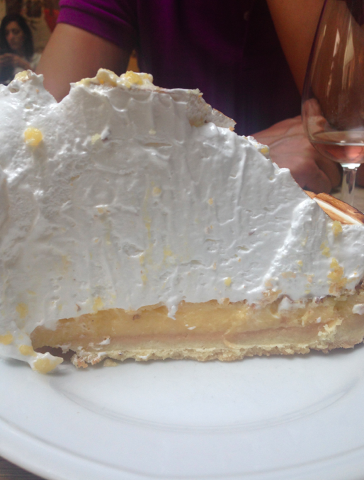 Known for their pies, this lemon meringue was incredible.