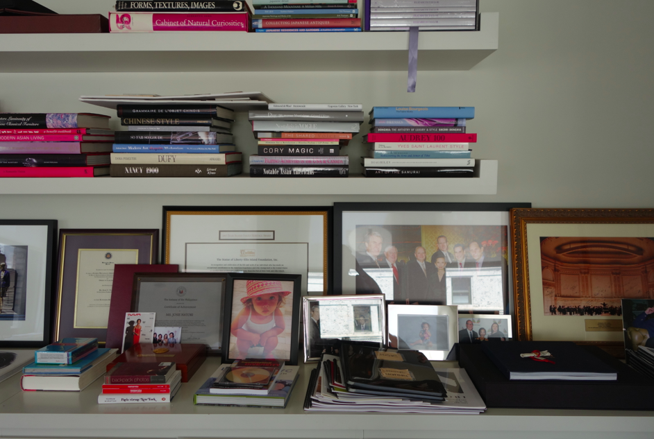 Photos and books for inspiration.