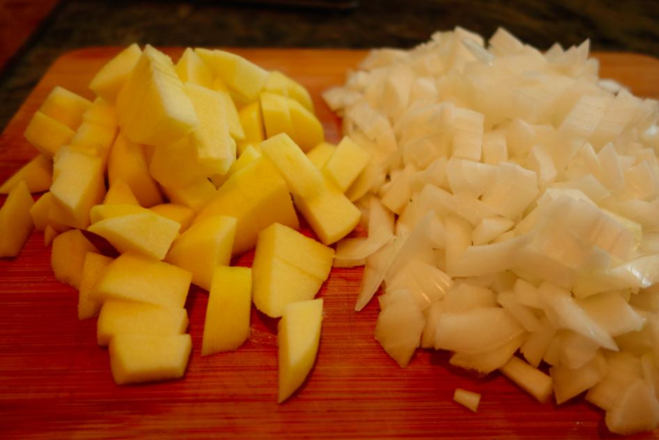 Chop the apple