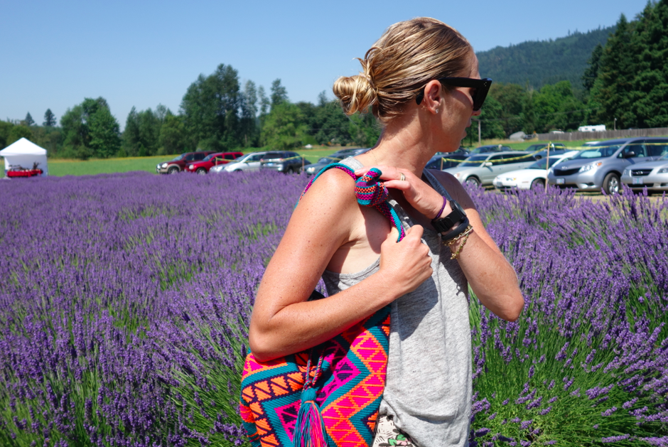 Bag in action at the Lavender Festival.