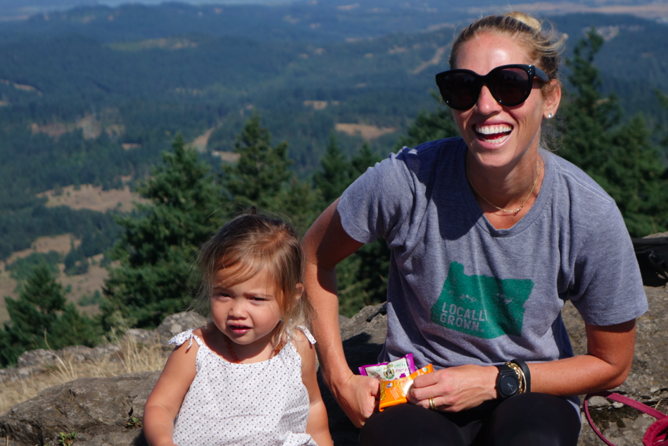 A few of my Loves (baby girl, trees, mountains, views, fresh air, and Oregon).
